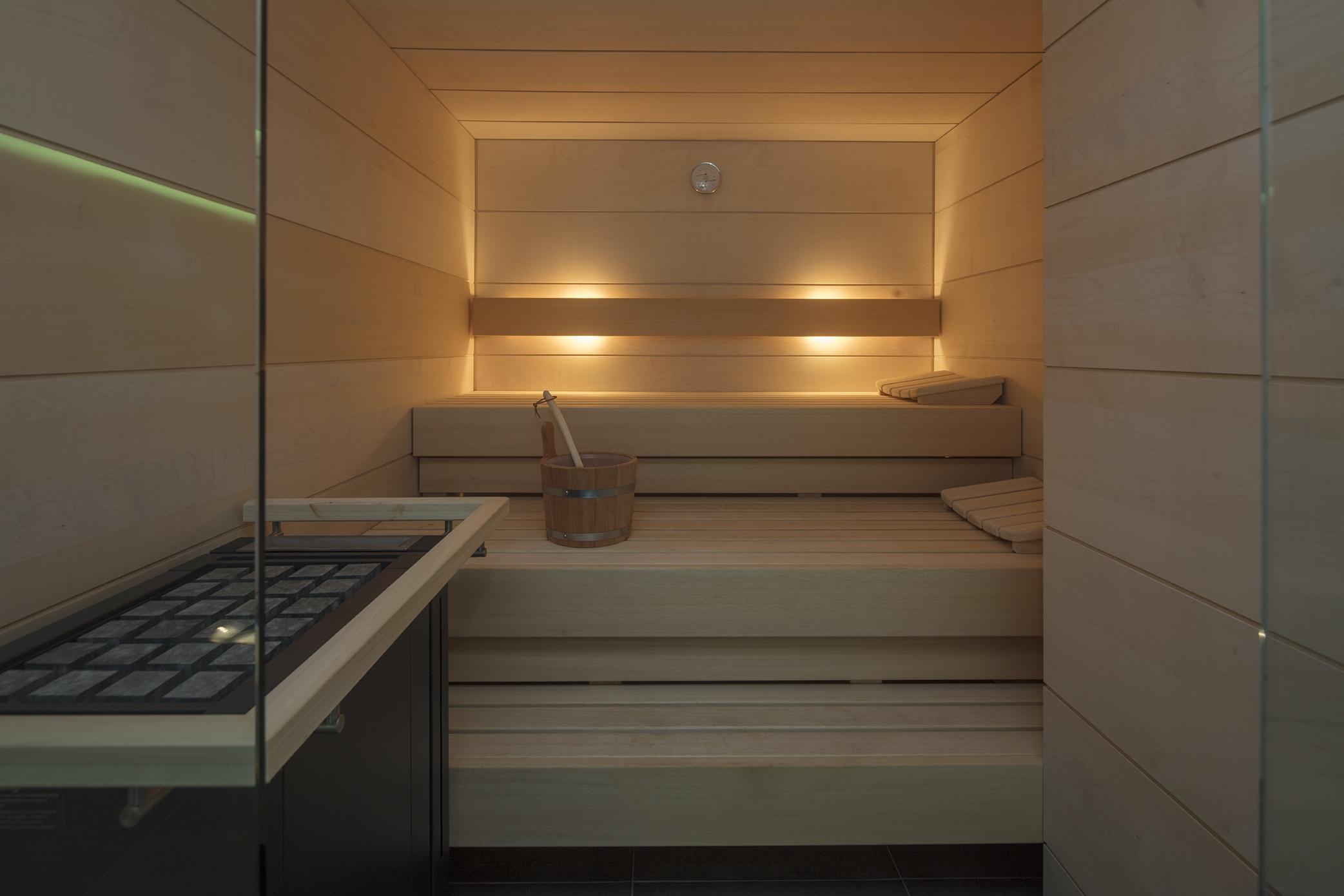 Sauna mit Saunasteinen in Essen